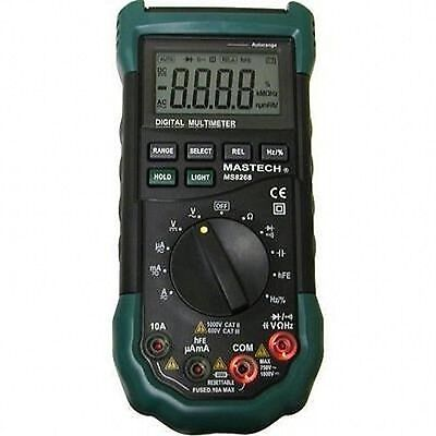 Handheld Digital Automanual Electrical Meter Mastech Ms8268 Multimeter Range