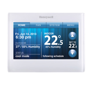 Honeywell wi-fi color touchscreen programmable thermostat RTH958