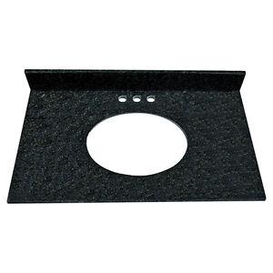 Comptoir de vanité en pierre  de granit noir NEUF lavabo inclus