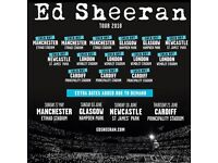2 x FACE VALUE Ed Sheeran standing tickets, Saturday 26th May, Etihad Stadium, Manchester