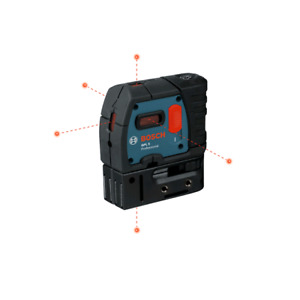 BOSCH SELF-LEVELING 5-POINT PLUMB AND SQUARE LASER-GPL 5R