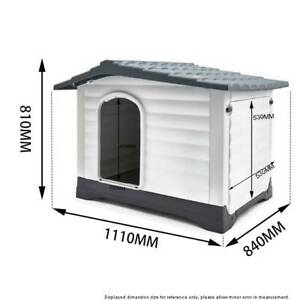 Large Plastic Dog Kennel Waterproof Outdoor Pet House Home XXL