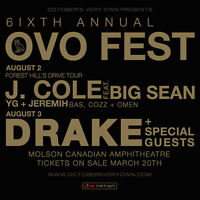 OVO Fest First Day Tickets. J.COLE ft Various Guests