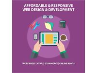 Mobile Friendly Beautiful Website Designing - Wordpress - Online Stores - Blogs - Booking Websites