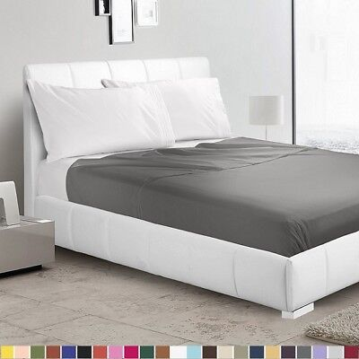 - 1500 Collection Single Flat Sheet / Top Sheet - Available in 12 Colors All Sizes