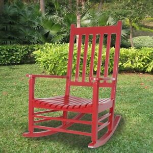 Deluxe Rubberwood Red Rocking Chairs - perfect condition