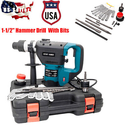"1-1/2"" SDS Electric Rotary Hammer Drill Plus Demolition Vari"