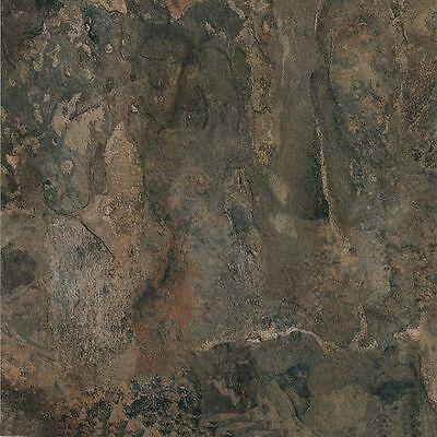 "Dark Slate Stone Marble Self Stick Vinyl Floor Tiles - 80 pcs 12"" x 12"""
