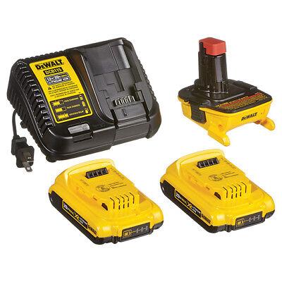 DeWALT DCA2203C 18-Volt to 20-Volt Max Lithium-ion Battery Adapter Kit