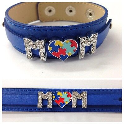 Autism Mom Or Choose Your Own Words Autism Awareness Bracelet