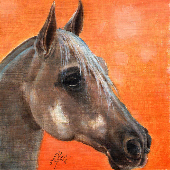 Original Oil HORSE Portrait Painting PONY Art Artwork on Canvas from Artist