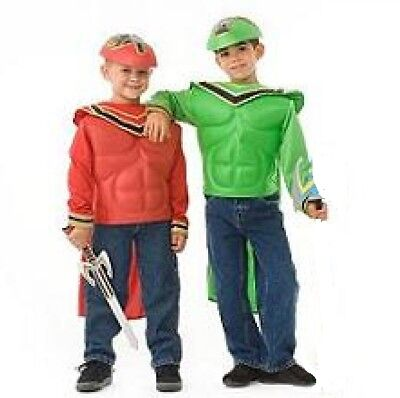 Power Rangers Costume Mystic Force Both Green and Red Costume w/Cape +Mask SWORD ()