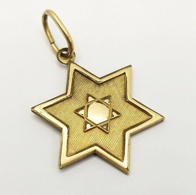 12K Gold Filled Star Of David Pendant Jewish Israel Jerusalem Charm for Necklace
