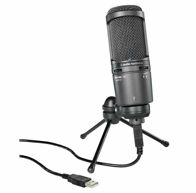 Audio-Technica AT2020USB+ USB Microphone Tracking Number NEW
