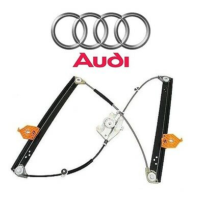 For Audi A8 Quattro S8 Front Driver Left Genuine Window Regulator 4E0 837 461 B