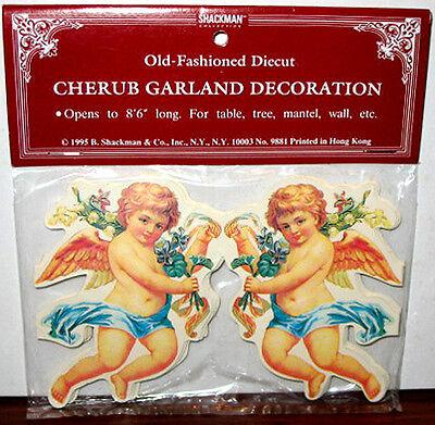 8FT CHERUB ANGEL GARLAND VALENTINES DAY DECORATION Mint/Sealed SHACKMAN - Valentines Decoration