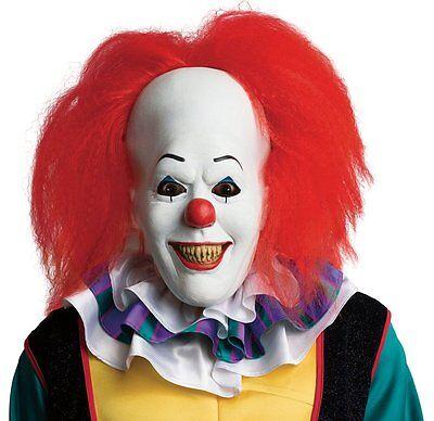 Rubies It Pennywise Clown Adult Horror Movie Halloween Mask Costume 68544 - Clown Halloween Movies