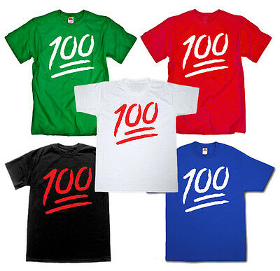 Emoji Keep It 1 Hundred colors Street Hunnid100 HIPHOP Music funny cheap T-shirt](Cheap Funny)