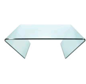 Modern glass coffee table (900$ value)