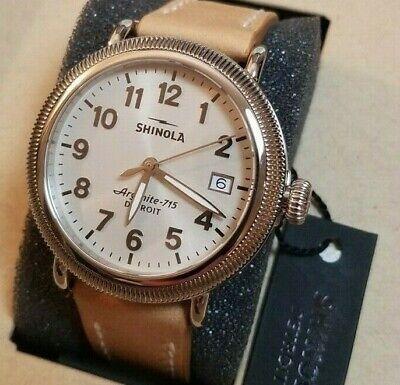 Shinola THE RUNWELL COIN EDGE 38mm Women's Watch, Brand NEW