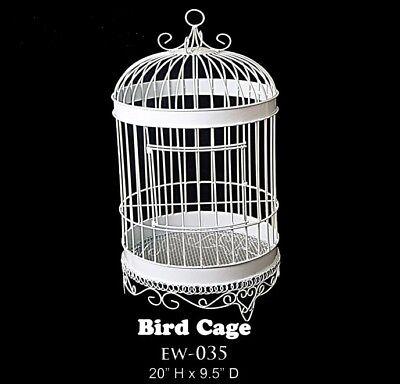 Large Bird Cage Home Garden Wedding Decor Plants Flower Candle Table Tool White