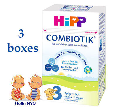 HiPP Combiotic Stage 3 Milk Formula 3 BOXES FREE EXPEDITED SHIPPING 08/2019