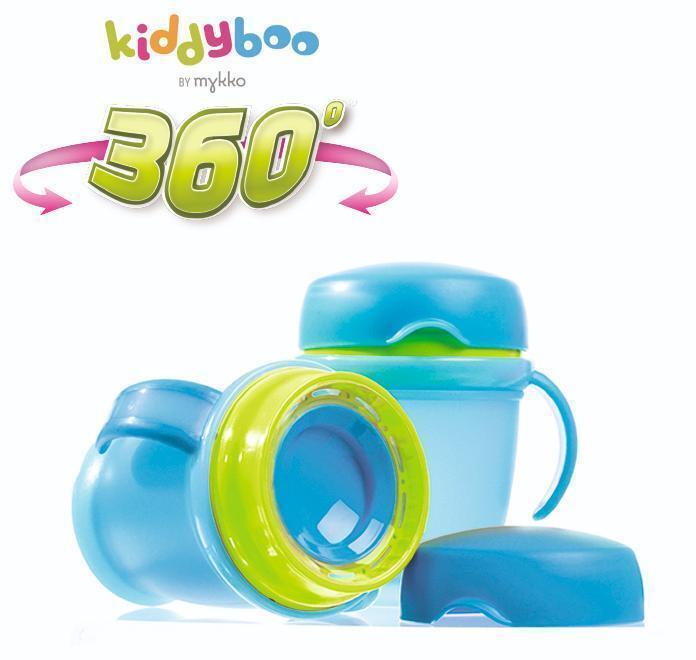 kiddyboo, antiknoei bekers, kinderbekers, 360°beker,