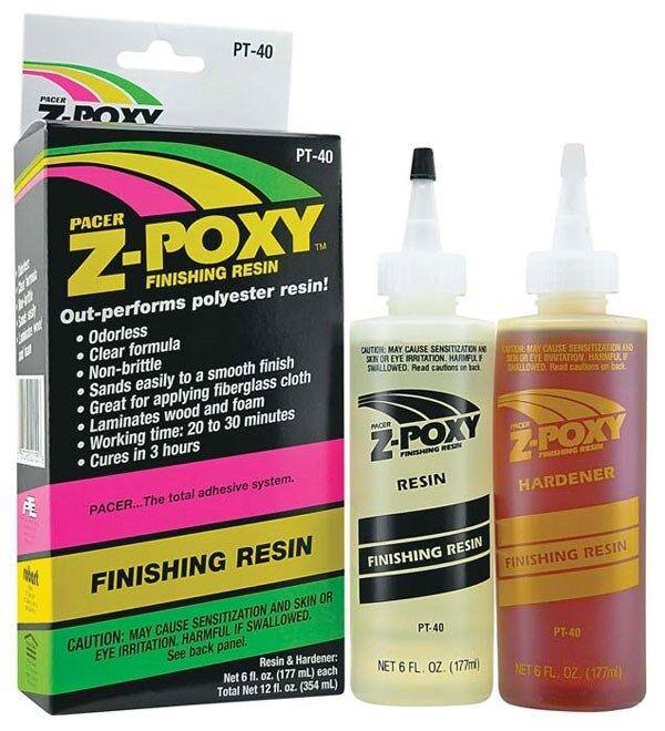 ZAP Z-Poxy Finishing Resin 12 oz Epoxy Set for Fiberglass Wood Foam