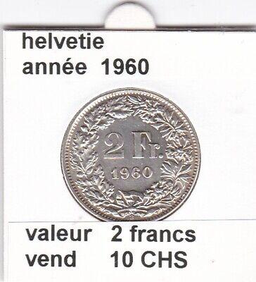 S 2) pieces suisse de 2 franc 1960  argent  voir description