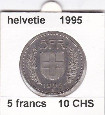 S 1 ) pieces suisse de 5 franc de 1995   voir description