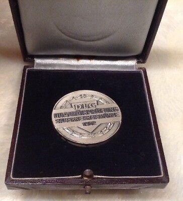 Silberne Preismünze 1962  DLG-Qualitätsprüfung 4 cm Frankfurt AM