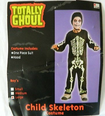 Boys Large Totally Ghoul Skeleton Costume  Play  Pretend  - Fun Ghoul Costume