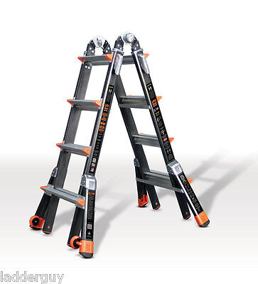 17 1a Fiberglass Little Giant Dark Horse Ladder Wplatform 15147