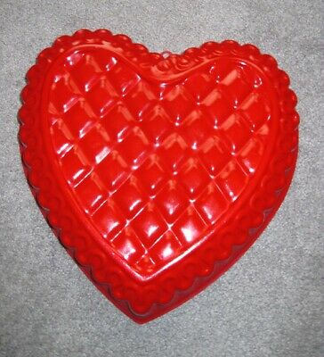 Heart Shaped Metal Brownie And Cake Pan - 10 x 10