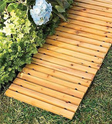 8 Weather Resistant Straight Cedar Path Pathway Outdoor Garden Wooden Walkway