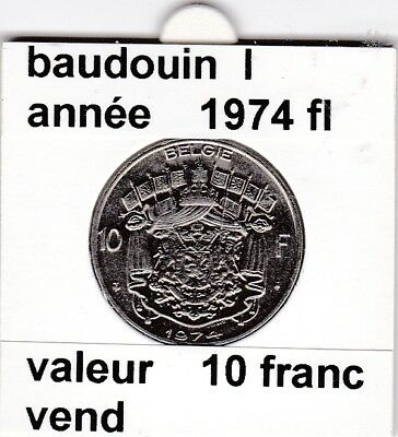 FB 2 )pieces de baudouin  10 francs 1974  belgie