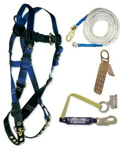 Safety harness and roof kit
