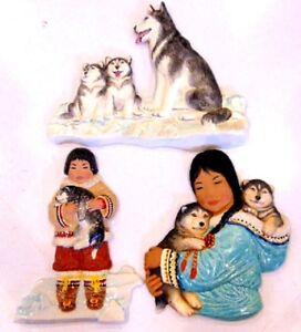 Vintage 70s Nori Peter Ceramic Plaques Signed originals Gatineau Ottawa / Gatineau Area image 1