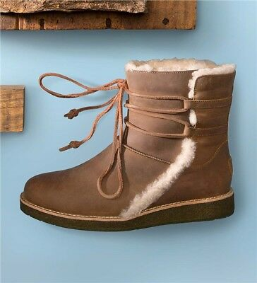 UGG AUSTRALIA Boots Luisa Water Resistant Uggs Leather Brown Ankle Booties 6.5