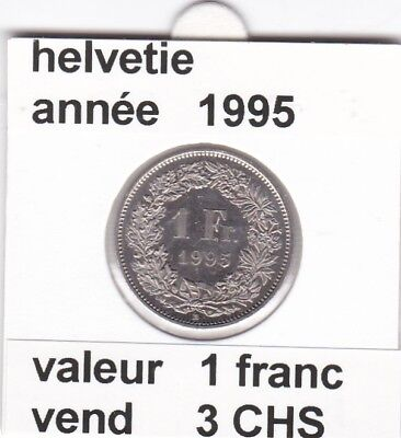 S 2) pieces suisse de 1 franc de 1995  voir description