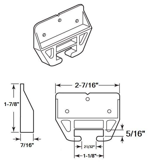 Drawer Guides Dresser Drawer Center Guide Plastic Brackets – Set of 6 Building & Hardware