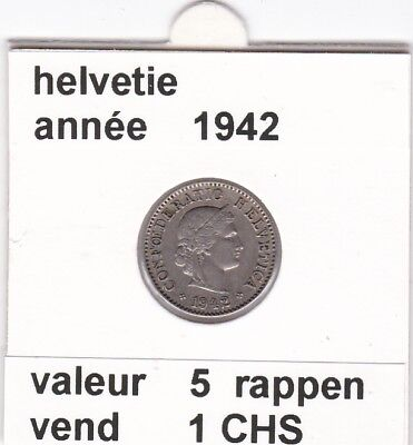 S 2) pieces suisse de 5  rappen de 1942  voir description