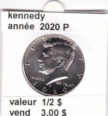 e 4 )pieces de 1/2 $ 2020 P kennedy