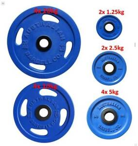 Australian Barbell Co. Olympic Rubber Plate Weights (BRAND NEW)