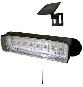 Solar Powered Shed Light Workshop GARAGE CAMPING 8 LEDs E2168