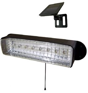 Solar Powered 8 LED Shed Light Workshop GARAGE CAMPING E2168