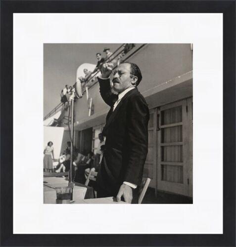 Robert Capa - Menachem Begin Photograph Circa 1950 Custom Gallery Framed
