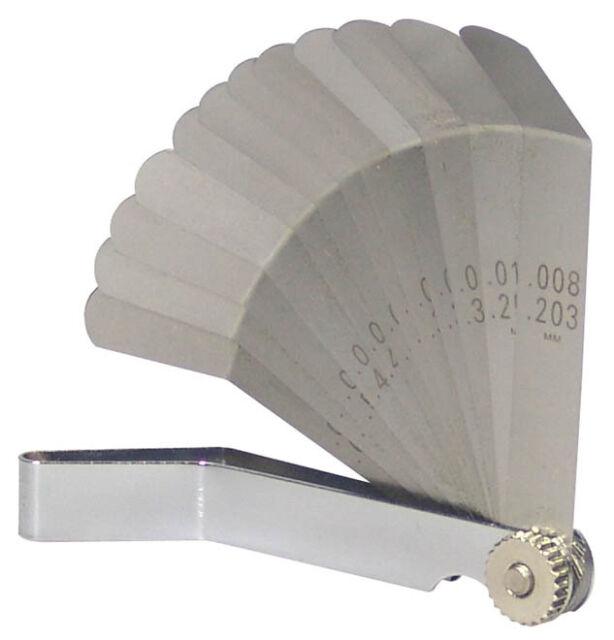 Fühlerlehre Zoll Werkzeug Set 12-Bla. Spion Ventil Lehre Messwerkzeuge Fühllehre