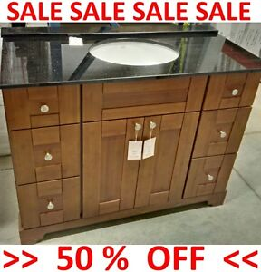 WAREHOUSE SALE !!! SOLID WOOD - FLOOR MODELS - CABINET / VANITY
