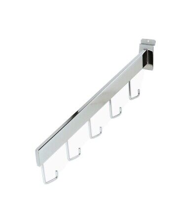 Econoco Commercial 5 Waterfall Hook Chrome Pack Of 6